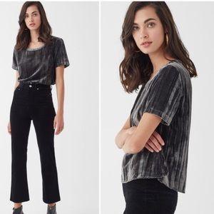 Splendid moonstone Velvet Short Sleeve Tee black M